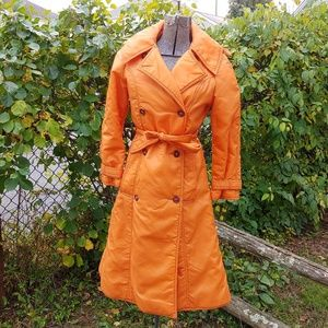 Vintage Orange Trench Coat 🍁
